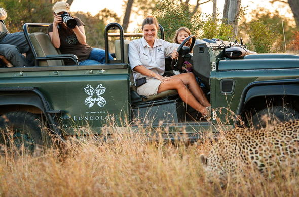 Get up close with wildlife in the Londolozi Game Reserve.