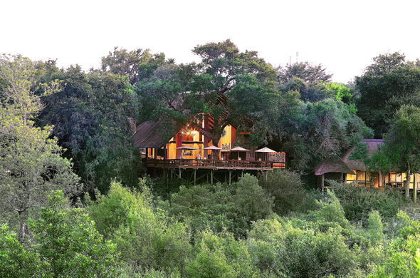 Exterior view of Londolozi Varty Camp.